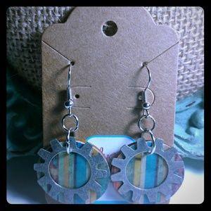 Jewelry - Wooden Gear earrings